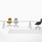 contemporary boardroom table / wooden / aluminum / steel