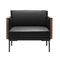 Contemporary armchair / fabric / leather / by Jean-Marie Massaud STEEVE  Arper