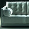 contemporary sofa / leather / fabric / 3-seater
