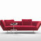 contemporary sofa / fabric / leather / contract
