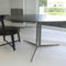 Contemporary dining table / wooden / metal / marble FLY FLEXFORM