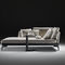 contemporary daybed / fabric / leather / indoor