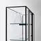contemporary display case / glass / aluminum / illuminated