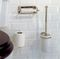 wall-mounted toilet paper dispenser / chromed metal / ceramic / commercial