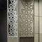 contemporary screen / wood / aluminium / leather