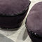 contemporary pouf / fabric / leather