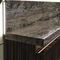 contemporary sideboard / wooden / leather / marble