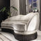 semicircular sofa / traditional / fabric / leather