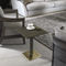 contemporary side table / brass / leather / marble