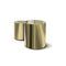 contemporary side table / chrome / round