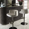 contemporary bar chair / upholstered / central base / swivel