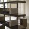 modular shelf / contemporary / walnut / ebony