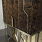 contemporary bar cabinet / walnut / lacquered wood / ebony