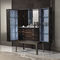 sideboard with long legs / contemporary / walnut / metal