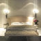 double bed / traditional / upholstered / with headboard