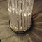 floor-standing lamp / contemporary / chrome / crystal