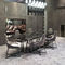 contemporary table / metal / marble / rectangular
