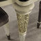 traditional dining table / ebony / metal / marble