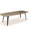 contemporary table / lacquered wood / glass / rectangular
