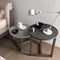 contemporary side table / oak / walnut / lacquered wood