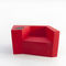 contemporary armchair / fabric / leather / tablet