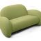 Contemporary sofa / fabric / steel / on casters GEO by Bartoli Design Rossi di Albizzate