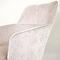 contemporary armchair / fabric / steel / blue