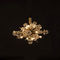 traditional ceiling light / crystal / brass / LED