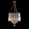 traditional chandelier / glass / brass / incandescent