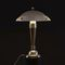 table lamp / Art Deco / brass / LED