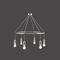 traditional chandelier / brass / custom / by Adolf Loos