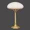 table lamp / traditional / glass / brass