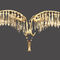 classic wall light / brass / crystal / LED