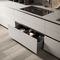 contemporary kitchen / wooden / aluminum / L-shaped
