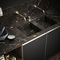 contemporary kitchen / wooden / marble / U-shaped