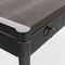 lacquered wood desk / solid wood / leather / synthetic leather