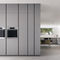 contemporary kitchen / oak / lacquered wood / walnut