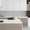 contemporary kitchen / oak / lacquered wood / island