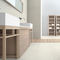 double washbasin cabinet / free-standing / ash / contemporary