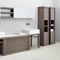 double washbasin / countertop / stone / contemporary