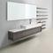 countertop washbasin / rectangular / Solid Surface / contemporary