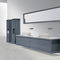 double washbasin / countertop / Solid Surface / contemporary