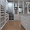 corner walk-in wardrobe / traditional / lacquered wood / with built-in light