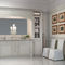traditional bathroom / lacquered wood / marble