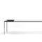 contemporary table / aluminum / laminate / rectangular