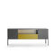 Contemporary sideboard / glass / aluminum / sheet metal HERON  MDF Italia