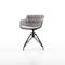 Contemporary chair / upholstered / with armrests / sled base FLOW SLIM  MDF Italia
