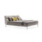 double bed / contemporary / with upholstered headboard / with leather headboard