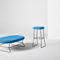 contemporary bar stool / fabric / commercial / upholstered