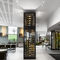 commercial wine cabinet / stainless steel / glazed / electric
